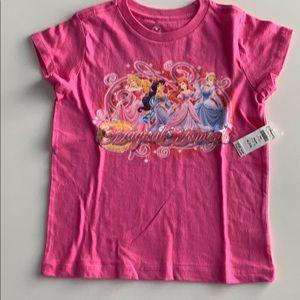 Disney Princess T-shirt. 100%cotton. Size 7/8